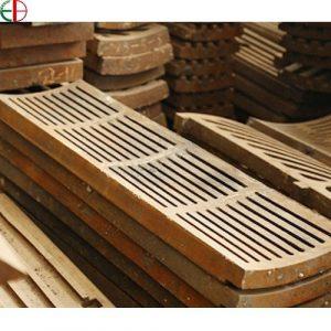 Heat-resistant steel grate plate